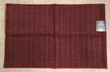 """Mohawk NWT 46"""" x 30"""" Accent Rug Checkered Red Brown Rubber Back with Permastrand"""