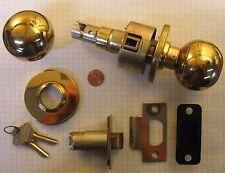 """SCHLAGE #A80PD-ORBIT-C(KEYWAY)-KD STOREROOM LOCK, POLISHED BRASS, 2-3/4"""" BACKSET"""