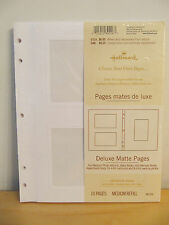 "New Hallmark ""Deluxe Matte Pages� for Med Photo Albums & Books Ar1490 ~ 10 Pgs"
