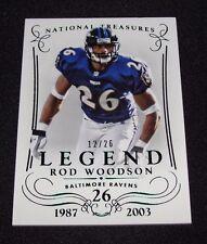 2014 National Treasures ROD WOODSON #155 Green Foil Legend/26 Baltimore RAVENS