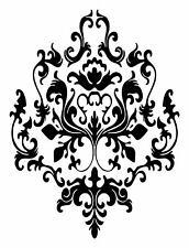 3 BAROQUE graphics vinyl DECAL WALL STICKER or Stencil Design