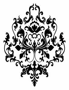 3 BAROQUE graphics vinyl DECAL WALL STICKER or Stencil Design