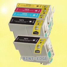 5 Pack Ink Cartridges 127 T127 for Epson 127 WorkForce WF-7010 WF-7510 WF-7520