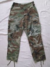 Vintage BDU Army Issue Combat Cold Weather Trousers Woodland Camo Small  #114