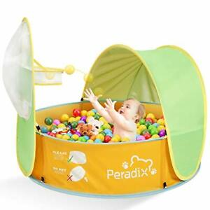 Peradix Paddling Pool for Kids & Pets, Kids Ball Pit Tent 3 in 1, Pop Up Wading