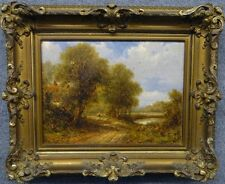 Robert FENSON oil on canvas painting Shepard with Flock Pond