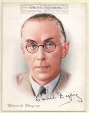 Warwick Deeping English  Author Novelist 1930s Ad Trade Card
