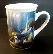 Thomas Kinkade The Forest Chapel Church Coffee Tea cup Mug 2005