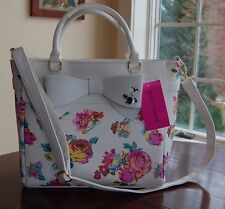 NWT Betsey Johnson Floral Bow Tote