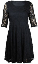 Vestiti da donna maniche a 3/4 nero floreale