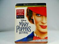 Mary Poppins Returns (DVD, 4K Ultra HD Blu-ray/Blu-ray)  New sealed !!