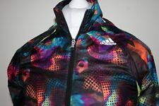 Adidas Womens Windbreaker Jacket Raincoat UK10 EU38 US6 Zip-Off Sleeves Top