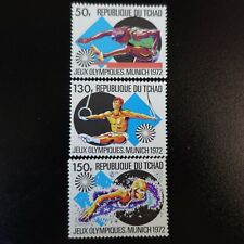 TCHAD N°255/257 JEUX OLYMPIQUES MUNICH 1972 NEUF ** LUXE MNH