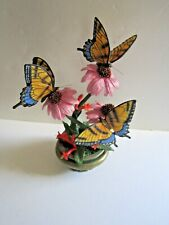 "Danbury Mint'S ""Splendid Swallowtails"" By Bob Guge-Trio Of Beautiful Butterflies"