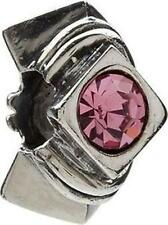 AUTHENTIC CHAMILIA STERLING SILVER LIGHT PINK CZ CUBIC ZIRCONIA JB-5C CHARM NEW