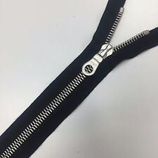 "RiRi Zipper 23"" / 58cm M8 Nickel One-Way Opened-End Separating Black Twill Tape"