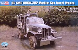 Hobbyboss 1:35 GMC CCKW-352 Machine Gun Turret Version U.S. Truck Model Kit