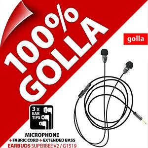 Golla Earbuds SupeBee V2 Yellow Earbud In-Ear Headphones MP3 iPod iPhone 5S 6S