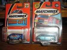 RARE LOT of 2 Different Matchbox VW Volkswagon Microbus Transporter Vans w cases