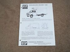 1975 FORD REFRIGERATED DELIVERY VAN COMMERICAL PRODUCTS SALES BROCHURE SHEET