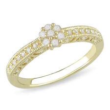 10k Yellow Gold Diamond Engagement Rings