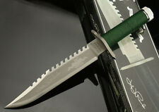 HOT SALES!! RAMBO I FIRST BLOOD 25th Year and SIGN Licensed Combat Hunting Knife