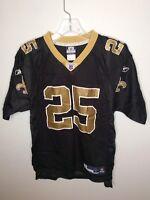 Reebok NFL New Orleans Saints Reggie Bush 25 Jersey Black Gold Youth Large 14-16