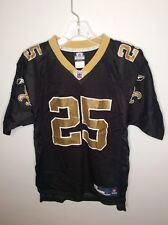 Reebok NFL New Orleans Saints Reggie Bush 25 Jersey Black Gold Youth Large 14-16