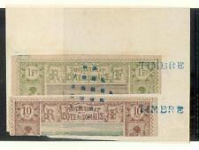 COTE SOMALI 1894 Yv10,17A HALBIERUNG RARITÄT(18002a