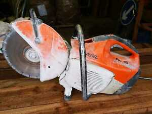 STIHL TS410 Saw Petrol Disc Stone Cutter , runs but difficult to start