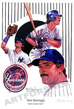 DON MATTINGLY NEW YORK YANKEES 11 x 17 lithograph BY ROBERT STEPHEN SIMON