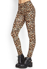 37% OFF AUTH FOREVER 21 LEOPARD PRINT LEGGINGS BNEW EXTRA SMALL SRP US$ 10.80+
