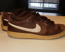 Heavily Used NIKE SWEET CLASSIC Brown Suede Skater Shoes 10.5 Men 2008 FREE SHIP