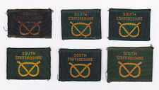 SCOUTS OF BRITISH / UNITED KINGDOM  UK SCOUT SOUTH STAFFORDSHIRE COUNTY BADGE E+