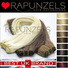 Weft Weben Haar Extensions so nähen in Clip In Human Rapunzels Salon Remy Haar