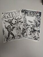Kiss #1 Dynamite Comics Amy Chu Kewer Baal Lot Of 2 Variant Cover NM Unread