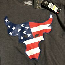 Under Armour Project Rock T shirt UA Freedom Rock The Troops Mens Size Medium