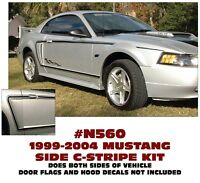 N206-C FORD MUSTANG FADER SIDE STRIPE with COBRA NAME TWO DECALS