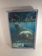 """New Sealed Fx Schmid Manatee Haven 1000 Piece Jigsaw Puzzle 26.5""""×17.25"""" Read."""
