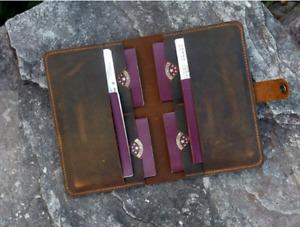 men women wallet purse cow Leather Passport Holder case bag handmade brown H004