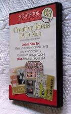 SCRAPBOOK CREATIONS: CREATIVE IDEAS DVD NO. 5, R-ALL, LIKE NEW, FREE SHIPPING