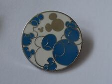 Brights Watches - Blue & Silver on White Background - Hidden Mickey Pin