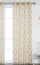 1 PANEL GROMMET PRINTED VOILE SHEER WINDOW CURTAIN TREATMENT TAUPE / IVORY
