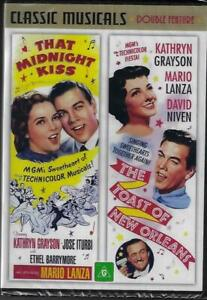 That Midnight Kiss/The Toast of New Orleans DVD Mario Lanza New Australia