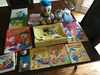 Lot of Vintage Walt Disney Donald Duck Collectibles, Toys, Books, etc.