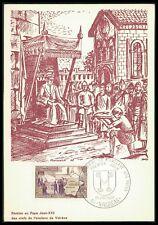 FRANCE MK 1968 PAPST JOHANNES XXII POPE PAPE CARTE MAXIMUM CARD MC CM bh46
