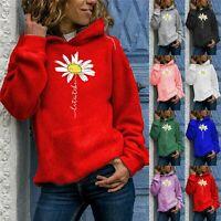 Womens Long Sleeve Hoodies Jumper Tops Ladies Sweatshirt Pullover Blouse LIU