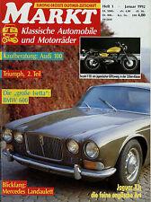 0061OM Oldtimer Markt 1992 1/92 Suzuki T20 Audi 100 Mercedes 600 BMW Jaguar XJ