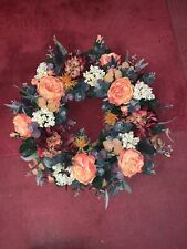 Autumnal  Big Door Wreath Orange Peonies Handmade Company Artificial Flowers
