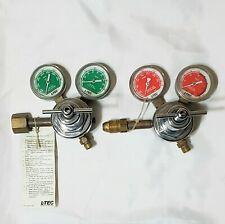 Esab L-Tec Regulator Set Oxygen Acetylene R-27 Welding Cutting Torch Purox Linde
